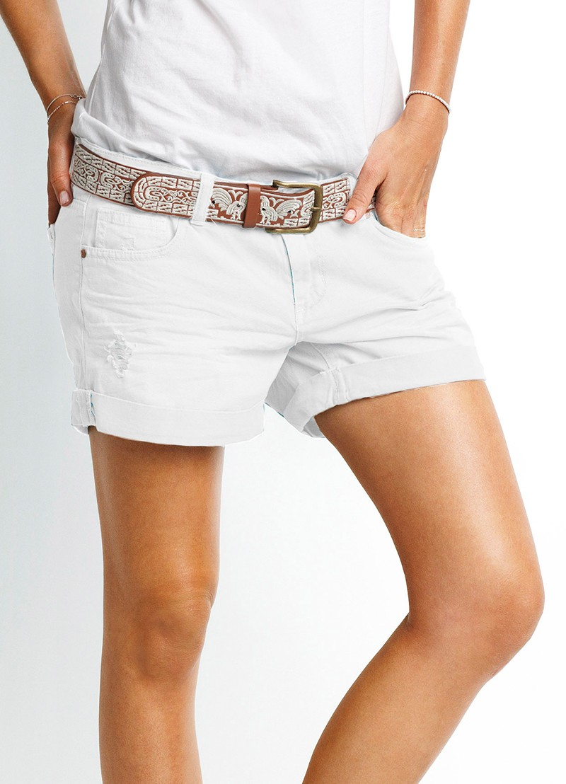Knot Top and Candy Denim Shorts