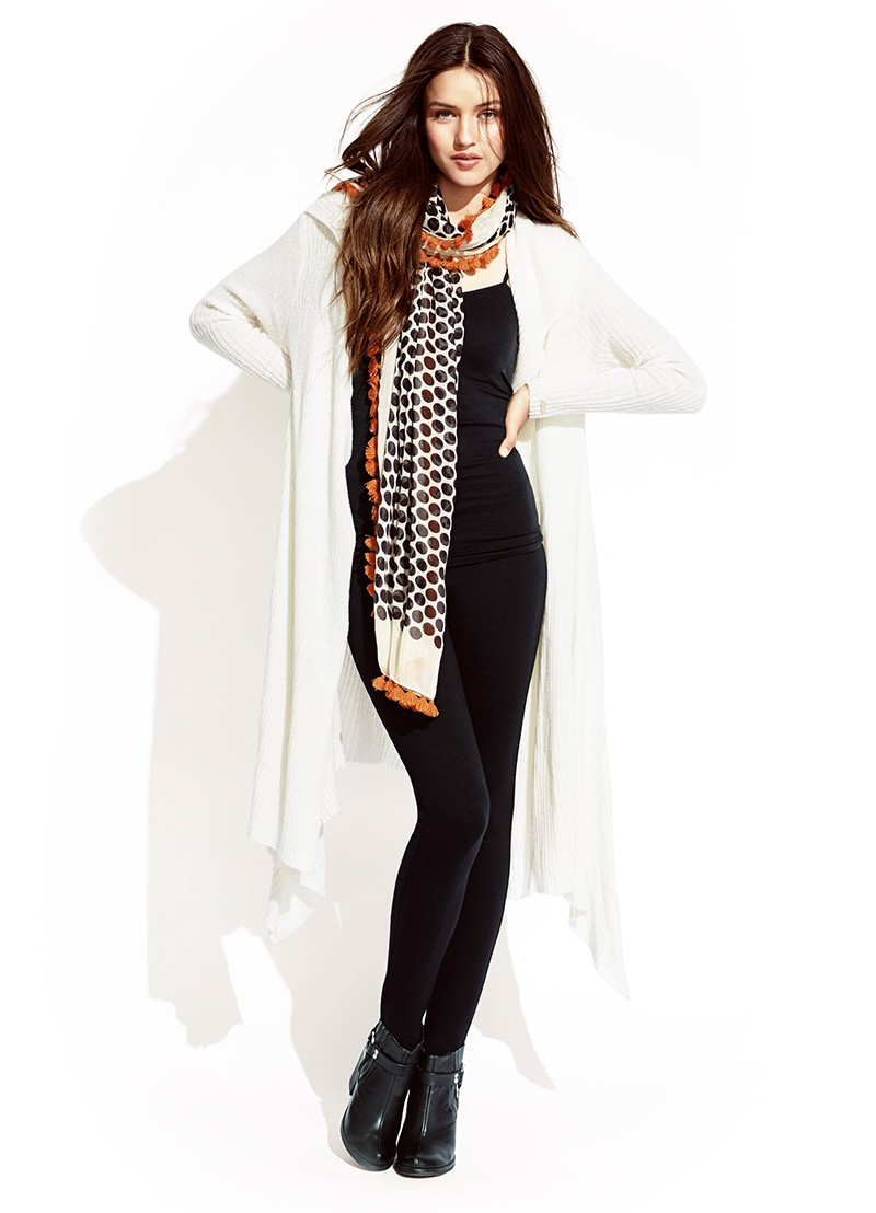 Motown Wrap, Spot Me Lucky Singlet, Ponte Tights & Spotty Time Scarf