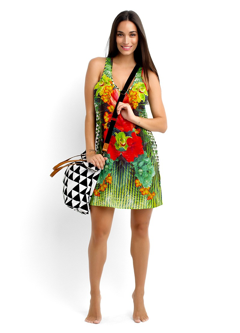 Planet Earth Dress & Lei tote