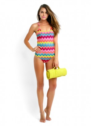 Soundwave Tank Maillot & Wrap Beach Throw
