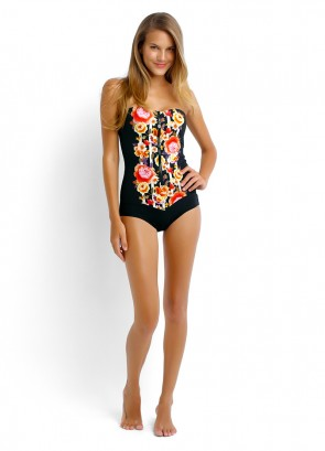 Romeo Rose Zip Front Maillot