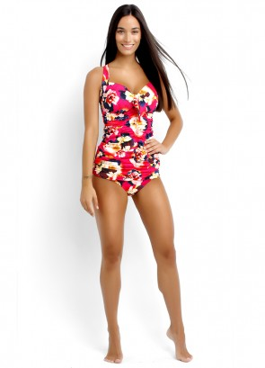 Kabuki Bloom DD Cup Halter Singlet & Ruched Side Pant