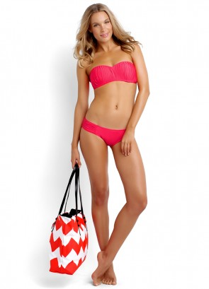 Seafolly Goddess Kiara Bustier, Pleated Hipster & Zig Zag Bag
