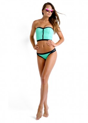 Block Party Long Line Bandeau & Brazilian Pant