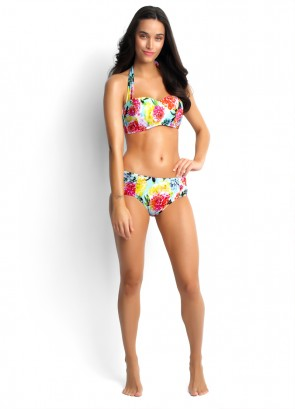 Geisha D Cup Bandeau Bustier and Ruched Side Retro